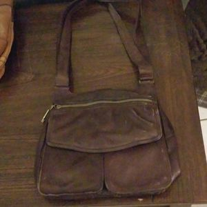 Fossil vintage brown leather purse